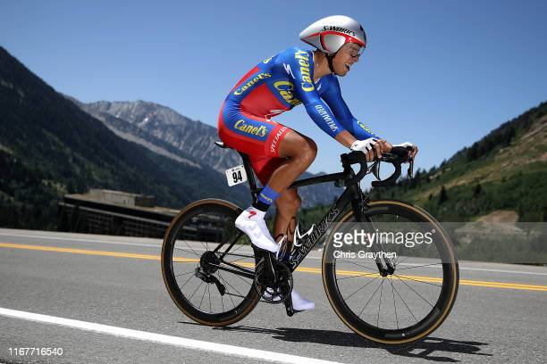Ignacio Prado Juarez of Mexico and Team CanelsSpecialized / during the 15th Larry H Miller Tour of Utah 2019 Prologue a 53km Individual Time Trial...
