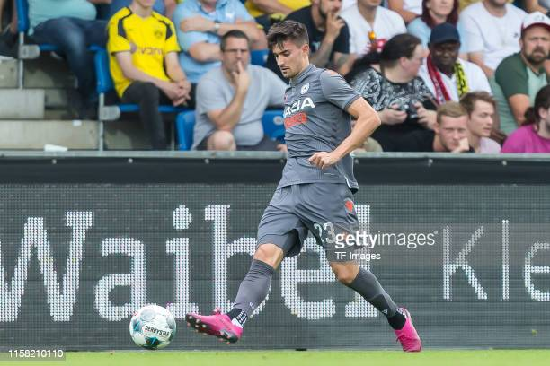 Ignacio Pussetto of Udinese Calcio controls the ball during the preseason friendly match between Udinese Calcio and Borussia Dortmund at Cashpoint...
