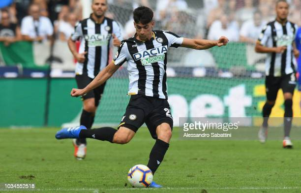 Ignacio Pussetto of Udinese Calcio in action during the serie A match between Udinese and Torino FC at Stadio Friuli on September 16 2018 in Udine...
