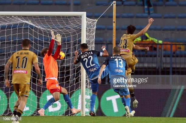 Ignacio Pussetto of Udinese scores a goal during the Serie A match between Empoli and Udinese at Stadio Carlo Castellani on November 11 2018 in...