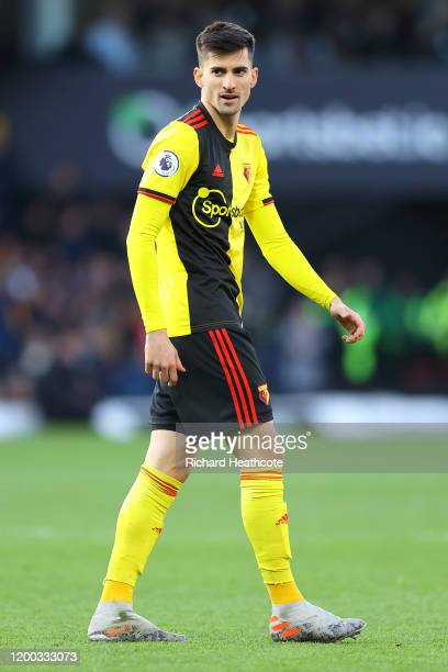 Ignacio Pussetto of Watford during the Premier League match between Watford FC and Tottenham Hotspur at Vicarage Road on January 18 2020 in Watford...