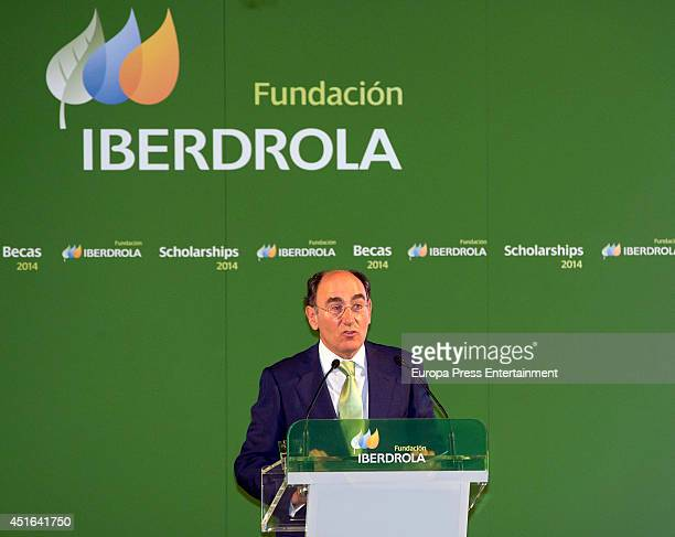 Ignacio Sanchez Galan attends the delivery of Iberdrola Foundation's scholarships on July 3 2014 in Madrid Spain