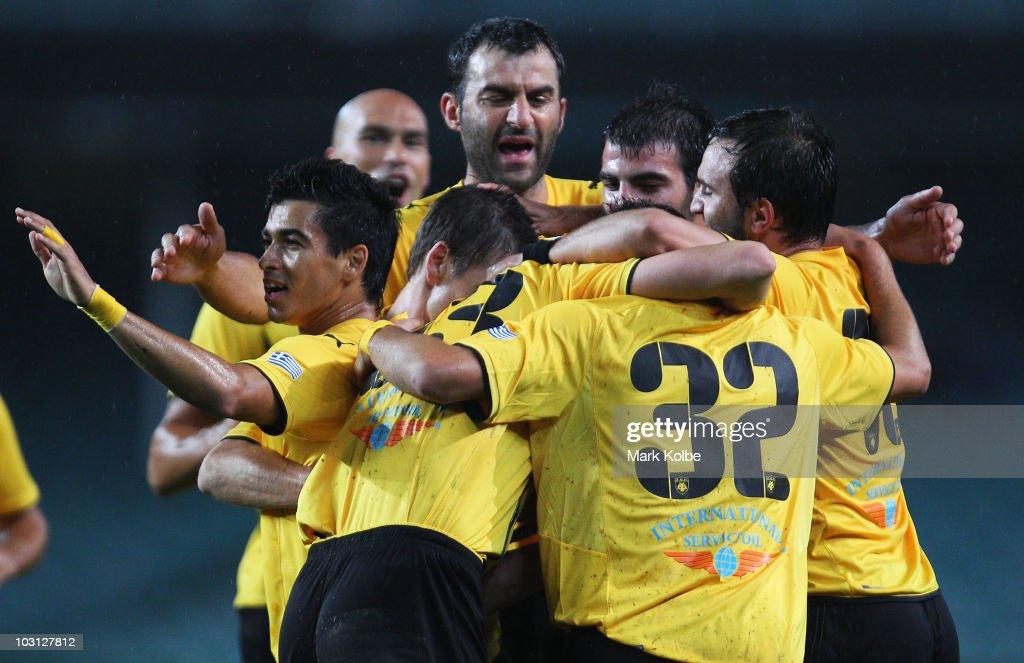 AEK Athens FC v Blackburn Rovers : News Photo