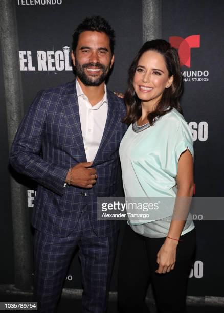 Ignacio Serricchio and Ana Claudia Talancon are seen at the 'El Recluso' private screening at Telemundo Center on September 18 2018 in Miami Florida