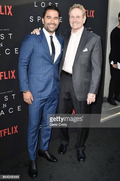 Ignacio Serricchio and Mark Goddard attend the 'Lost In Space' Season 1 Premiere at ArcLight Cinerama Dome on April 9 2018 in Hollywood California