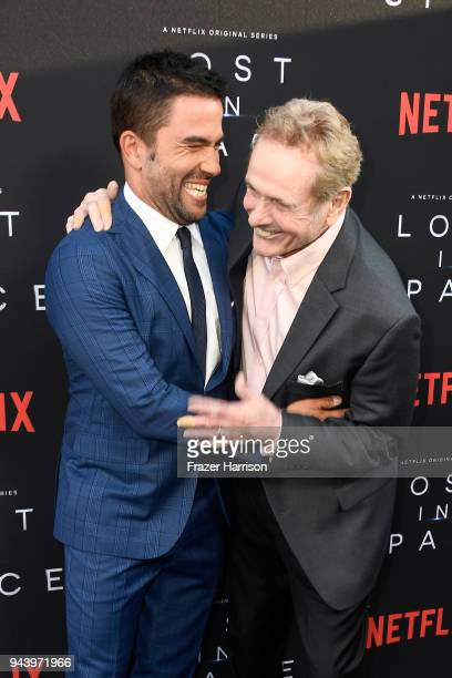Ignacio Serricchio and Mark Goddard attend the premiere of Netflix's 'Lost In Space' Season 1 at The Cinerama Dome on April 9 2018 in Los Angeles...