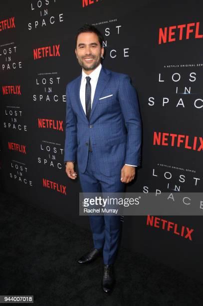 Ignacio Serricchio attends Netflix's 'Lost In Space' Los Angeles premiere on April 9 2018 in Los Angeles California