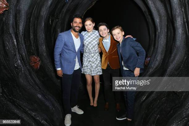 Ignacio Serricchio Mina Sundwall Noah Schnapp and Maxwell Jenkins attend the Netflix FYSee Kick Off Party at Raleigh Studios on May 6 2018 in Los...