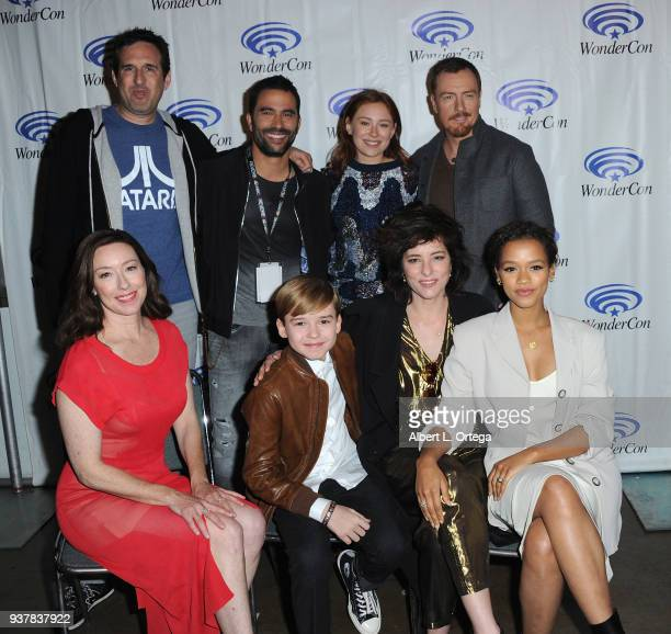 Ignacio Serricchio Mina Sundwall Toby Stephens Molly Parker Max Jenkins Parker Posey and Taylor Russell promote Netflick's 'Lost In Space' on Day 2...