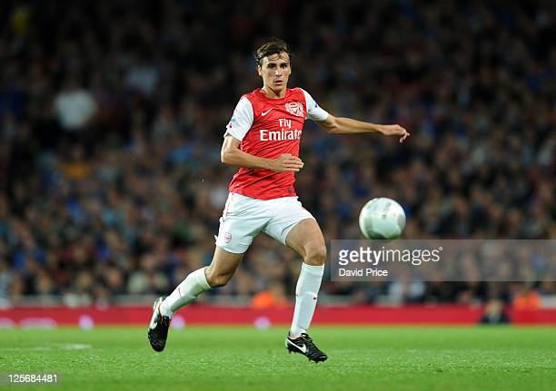 Ignasi Miquel of Arsenal during the Carling Cup Third Round match between Arsenal and Shrewsbury Town at Emirates Stadium on September 20 2011 in...