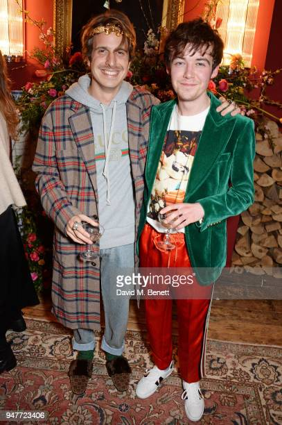 Ignasi Monreal and Alex Lawther attend a dinner hosted by Gucci to celebrate #GucciHallucination A Limited Line featuring artworks by Ignasi Monreal...