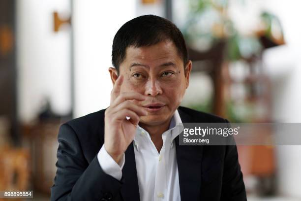 Ignasius Jonan Indonesia's energy and mineral resources minister speaks during an interview in Jakarta Indonesia on Saturday April 22 2017 Indonesia...