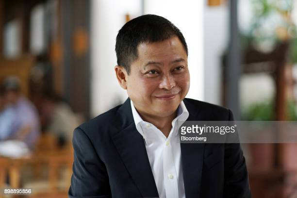 Ignasius Jonan Indonesia's energy and mineral resources minister listens during an interview in Jakarta Indonesia on Saturday April 22 2017 Indonesia...
