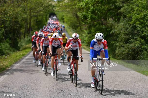 Ignatas Konovalovas of Lithuania and Team Groupama - FDJ / Thomas De Gendt of Belgium and Team Lotto Soudal / Peloton / during the 102nd Giro...