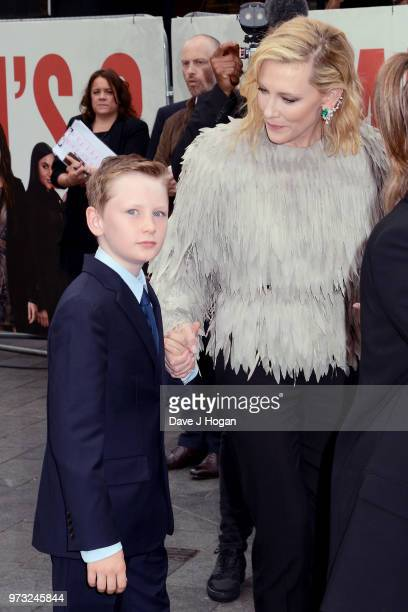 Ignatius Martin Upton and Cate Blanchett attend the 'Ocean's 8' UK Premiere held at Cineworld Leicester Square on June 13, 2018 in London, England.