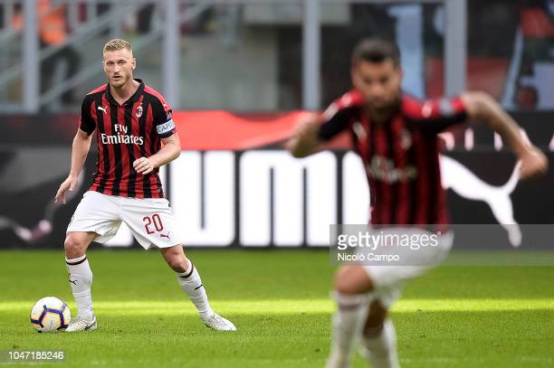 Ignazio Abate of AC Milan in action during the Serie A football match between AC Milan and AC ChievoVerona AC Milan won 31 over AC ChievoVerona