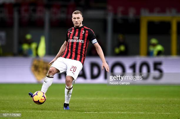 Ignazio Abate of AC Milan in action during the Serie A football match between AC Milan and Torino FC The match ended in a 00 tie
