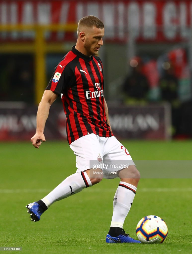 Ignazio Abate of AC Milan in action during the Serie A match ...