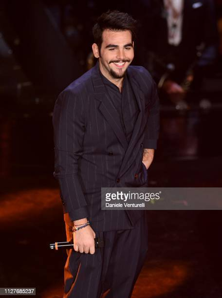 Ignazio Boschetto from Il Volo performs on stage during the first night of the 69th Sanremo Music Festival at Teatro Ariston on February 05 2019 in...