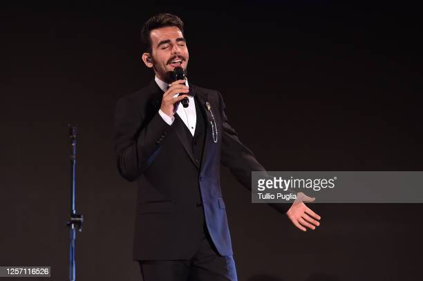 Ignazio Boschetto of Il Volo performs during the closing night of the Taormina Film Festival on July 18 2020 in Taormina Italy