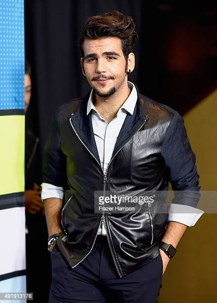 Ignazio Boschetto of Il Volo poses in the press room during Telemundo's Latin American Music Awards at the Dolby Theatre on October 8 2015 in...