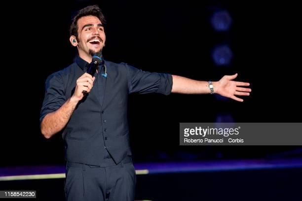 Ignazio Boschetto of the group Il Volo performs at Auditorium Parco Della Musica on June 26 2019 in Rome Italy