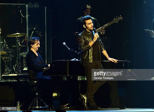 Ignazio Boschetto of the Italian pop trio Il Volo performs at the Pearl at Palms Casino Resort on March 25 2016 in Las Vegas Nevada