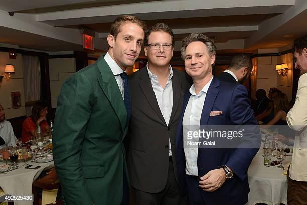 Ignazio Ciprani, Blumenfeld Development Group Principal David Blumenfeld, and founder and CEO DuJour Jason Binn attend DuJour's Jason Binn and...