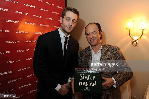 Ignazio Cipriani and Prosper Assouline attend Assouline and Cipriani host the launch of Simply Italian at Cipriani Wall Street on October 28 2013 in...