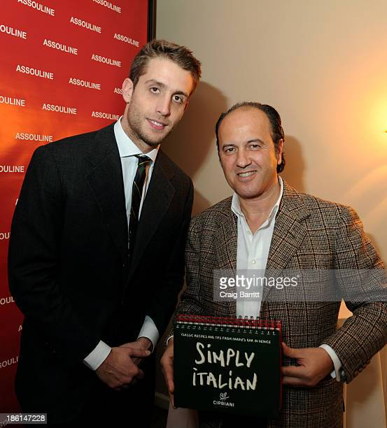 """Ignazio Cipriani and Prosper Assouline attend Assouline and Cipriani host the launch of """"Simply Italian"""" at Cipriani Wall Street on October 28, 2013..."""