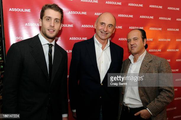 """Ignazio Cipriani, Philippe Pascal and Prosper Assouline attend Assouline and Cipriani host the launch of """"Simply Italian"""" at Cipriani Wall Street on..."""