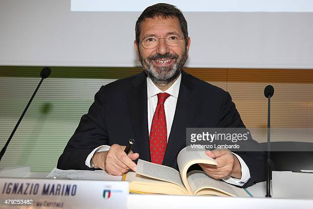 Ignazio Maino attends the CONI convention at Expo 2015 on July 2 2015 in Milan Italy