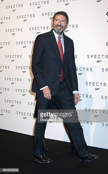 Ignazio Marino attends a red carpet for 'Spectre' on October 27 2015 in Rome Italy