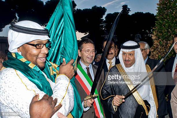 Ignazio Marino Mayor of Rome His Royal Highness Prince Sultan bin Salman bin Abdul Aziz Al Saud President of the Saudi Commission for Tourism and...
