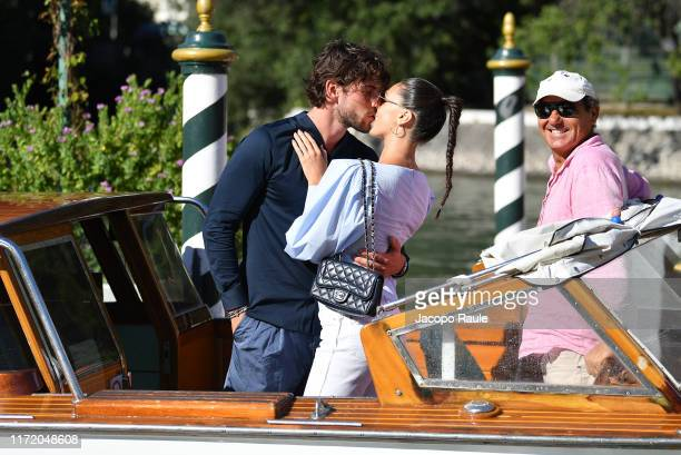 Ignazio Moser and Cecilia Rodrigiuez are seen arriving at the 76th Venice Film Festival on September 03 2019 in Venice Italy