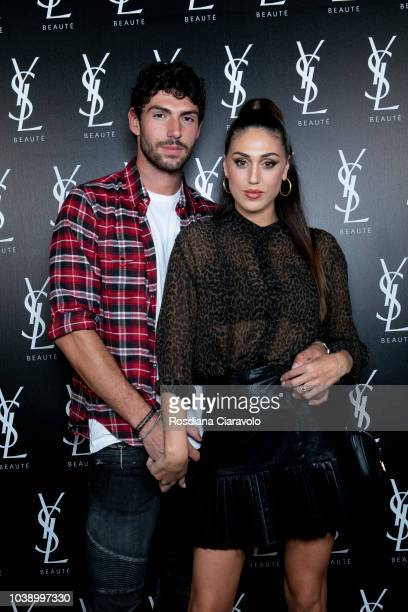 Ignazio Moser and Cecilia Rodriguez attend Ysl Beauty Club Milan during Milan Fashion Week Spring/Summer 2019 on September 23 2018 in Milan Italy