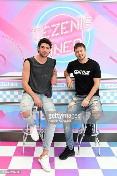 Ignazio Moser and David Carreira attend the TEZENIS Show Drive In on May 07 2019 in Verona Italy