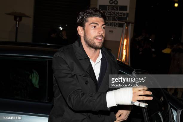 Ignazio Moser arrives at the GQ Best Dressed Men 2019 Party at the Teatro Vetra Milan January 11th 2019