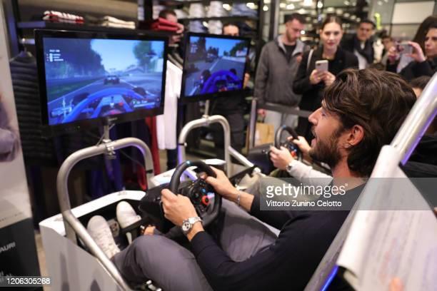 Ignazio Moser attends the Reveal Of Scuderia AlphaTauri's New Car Design At The Façade Of La Rinascente on February 14 2020 in Milan Italy