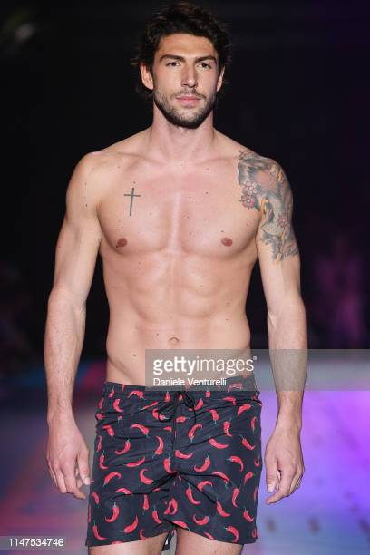 Ignazio Moser attends the TEZENIS Show Drive In on May 07 2019 in Verona Italy