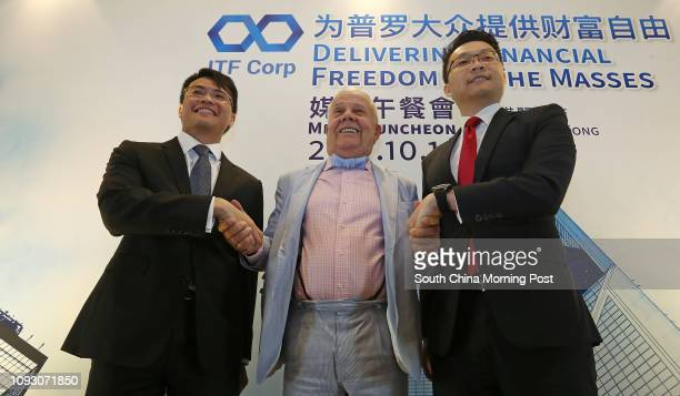 Ignious Young, Advisor of ITF Corporation; commodities investor Jim Rogers and Lim Hui Jie, Founder & CEO of ITF Corporation, attend ITF Corp Media...
