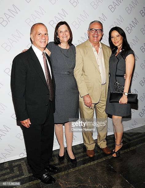Ignite Campaign CoChair Richard Feldman BAM president Karen Brooks Hopkins executive producer Joseph Melillo and actress Lucy Liu attend the 2014...