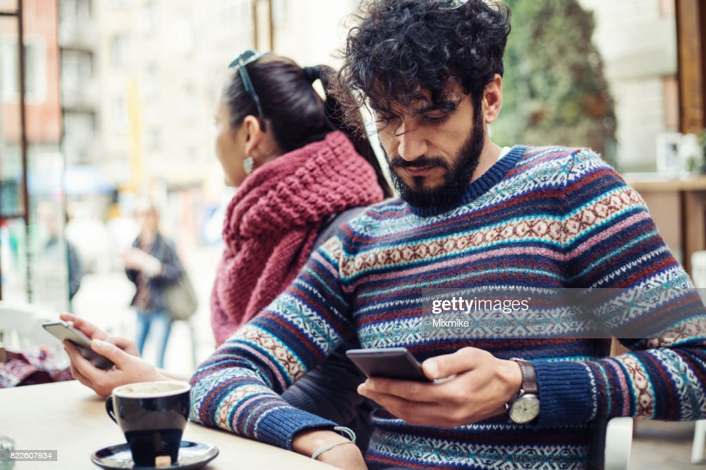 Ignoring each other : Stock Photo