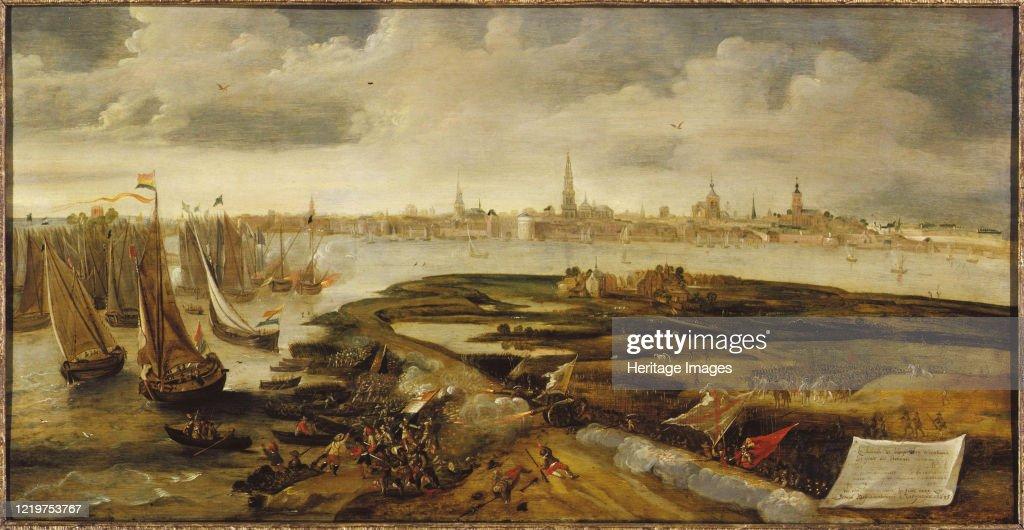 Íñigo De Borja Repulses A Dutch Force Attempting A Landing Near Antwerp : News Photo