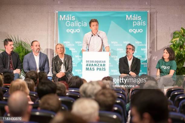 Íñigo Errejón leader of the new Spanish political party 'Mas Pais' attends a meeting in Fundación Once A Coruña on October 25 2019 in A Coruna Spain