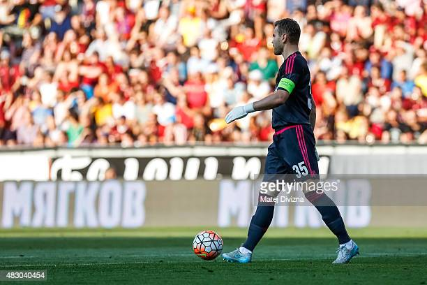 Igor Akinfeev of CSKA Moscow during the UEFA Champions League Third Qualifying Round 2nd Leg match between Sparta Prague and CSKA Moscow August 5...