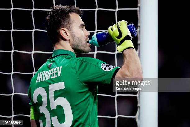 Igor Akinfeev of CSKA Moskow during the UEFA Champions League match between Real Madrid v CSKA Moskou at the Santiago Bernabeu on December 12 2018 in...