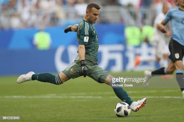 Igor Akinfeev of Russia during the 2018 FIFA World Cup Russia group A match between Uruguay and Russia at Samara Arena on June 25 2018 in Samara...