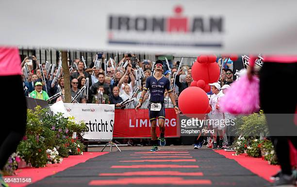 Igor Amorelli of Brazil wins Ironman Maastricht on July 31 2016 in Maastricht Netherlands