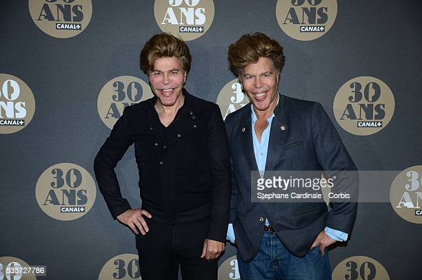Igor and Grichka Bogdanoff attend the 30 Th Anniversary of Canal at Palais de Tokyo in Paris